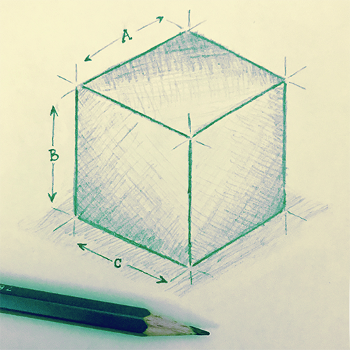 Cube Sketch green