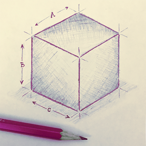 Cube Sketch red