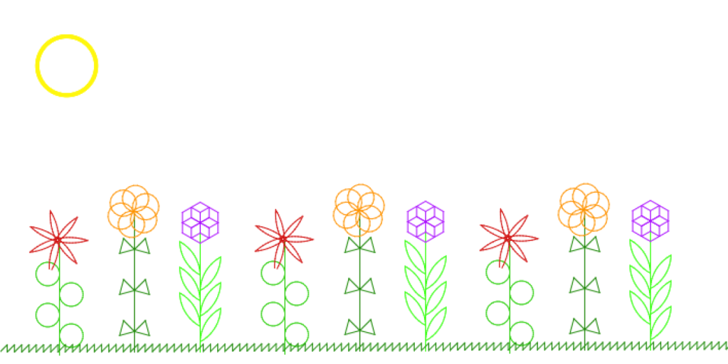 header image showing drawing created using Scratch coding blocks